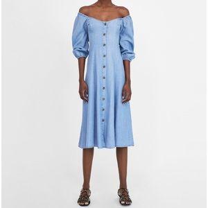 NWT Zara Off the Shoulder Dress Size M